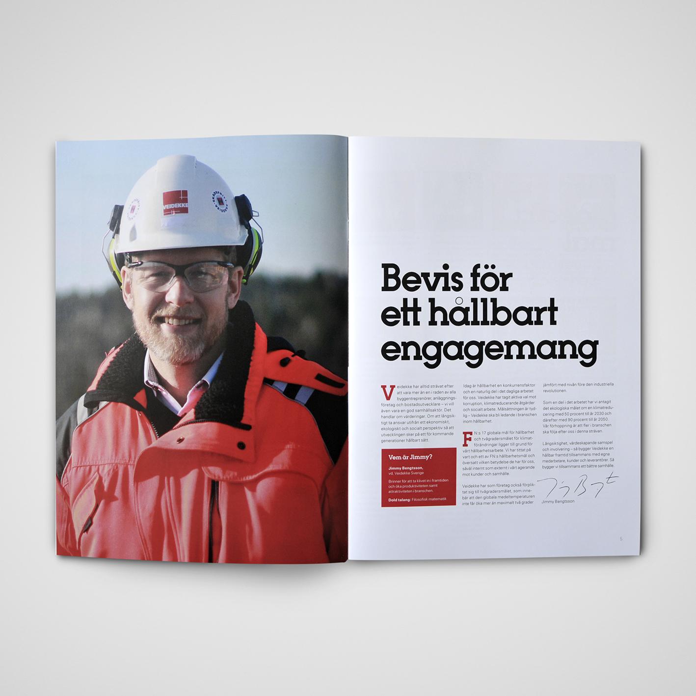 Ett hållbart magasin - uppslag