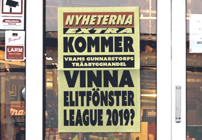 Elitfönster League löpsedel
