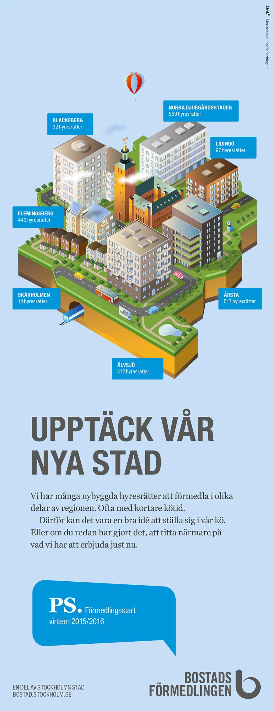 Bostadsförmedlingen - Upptäck vår nya stad