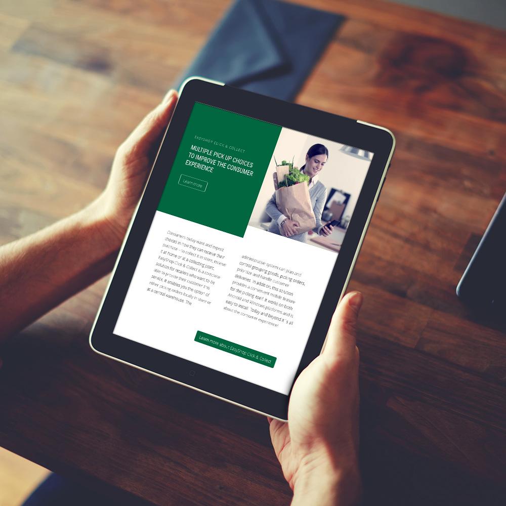 Ny webb för Datema Retail