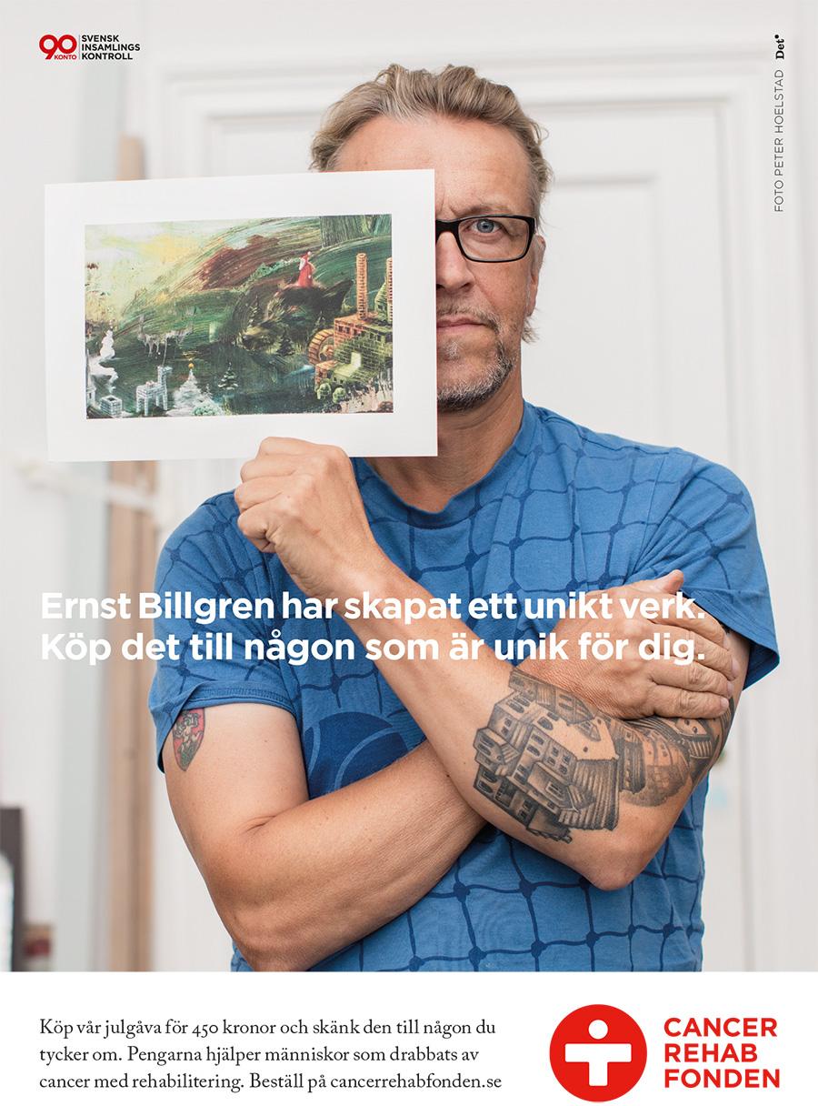 Ernst Billgren har skapat ett unikt verk för Cancer Rehab Fonden