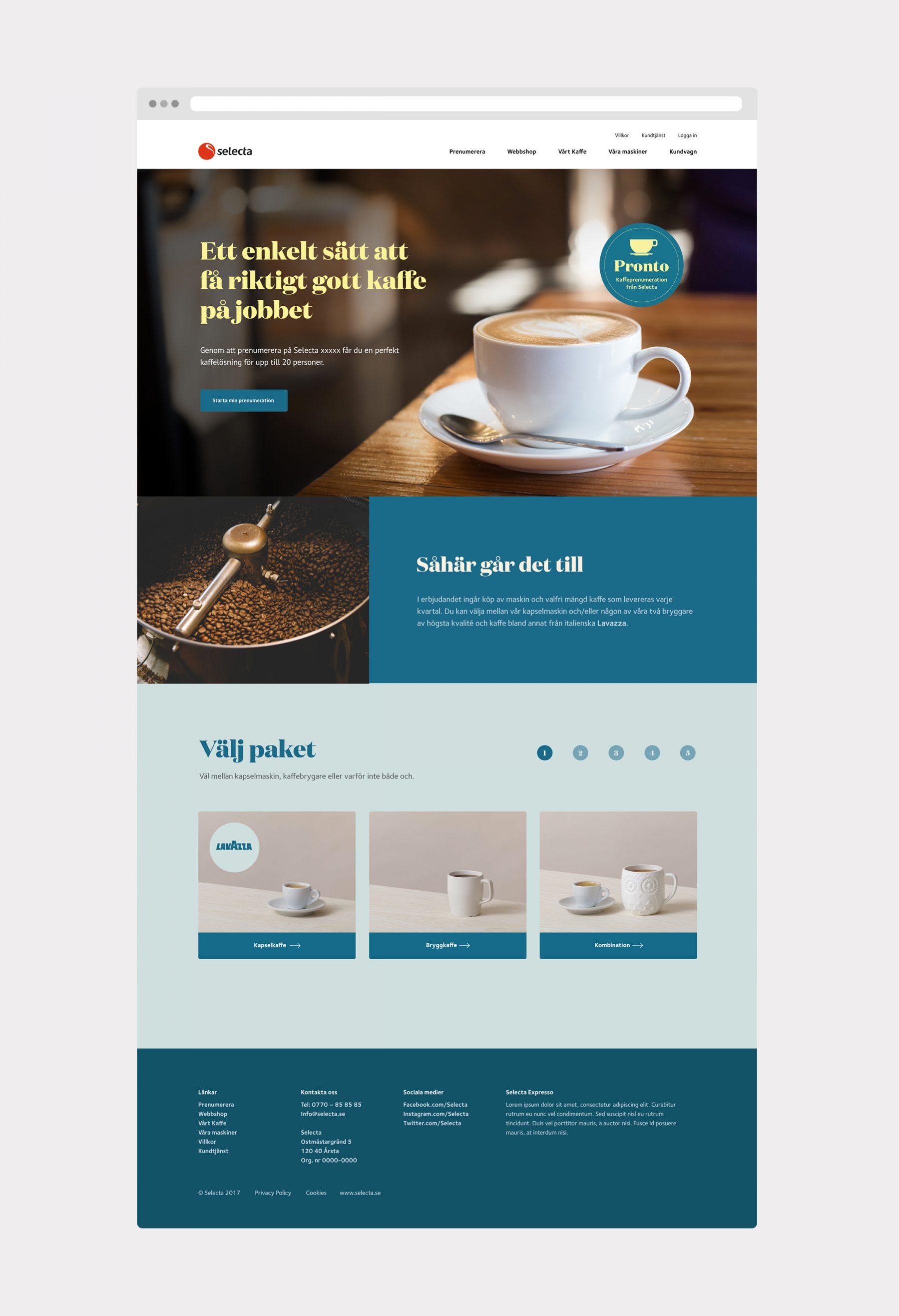 Pronto - sajtdesign