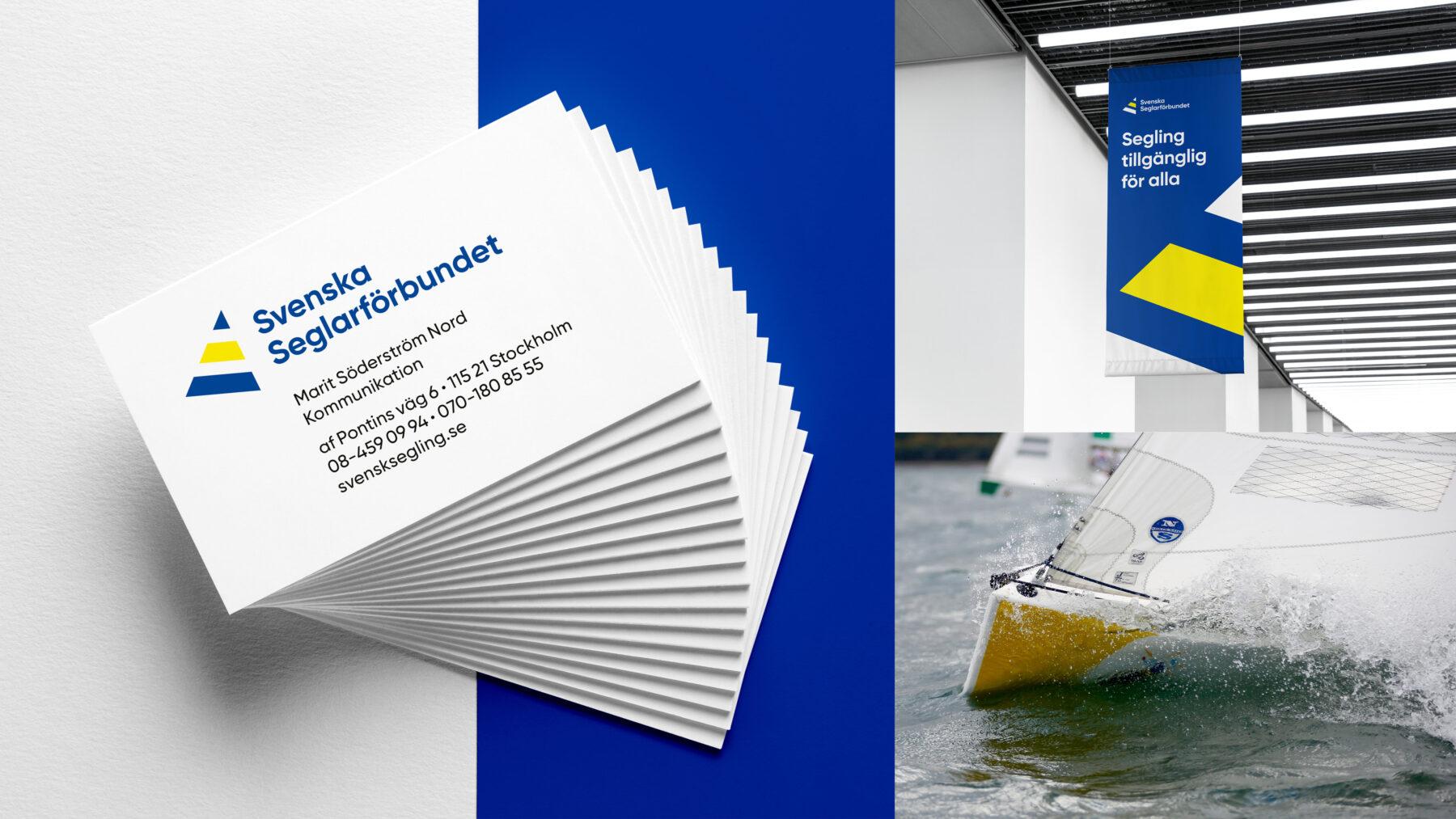 Seglarförbundet visitkort och vepa